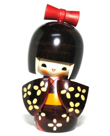 Papusa traditionala Kokeshi Kosode
