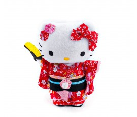 Papusa textila Chirimen Kitty - Nihon Ningyo