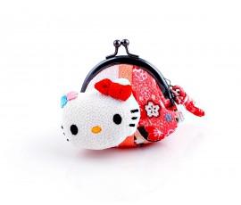 Portofel Kitty Chirimen Gamaguchi