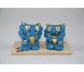 Set statuete Shisa Albastru