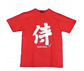 Tricou kanji Samurai rosu