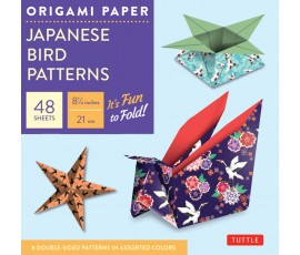ORIGAMI PAPER: JAPANESE BIRD PATTERNS: PERFECT FOR SMALL PROJECTS OR THE BEGINNING FOLDER