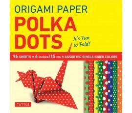 ORIGAMI POLKA DOTS 15cm 96 SHEETS