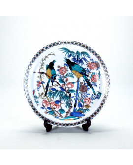 FARFURIE DECORATIVA KUTANI 9.0 PASARI FLORI N158-02    27 cm
