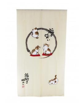PERDEA NOREN PISICI MANEKI 85 x 150 cm