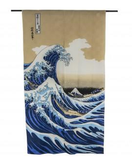 PERDEA NOREN HOKUSAI NAMI FUJI 85 x 150 cm